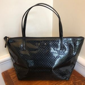Kate Spade Patten Leather Black Tote